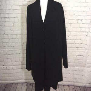 Ellen Tracy Women's Black Duster Cardigan